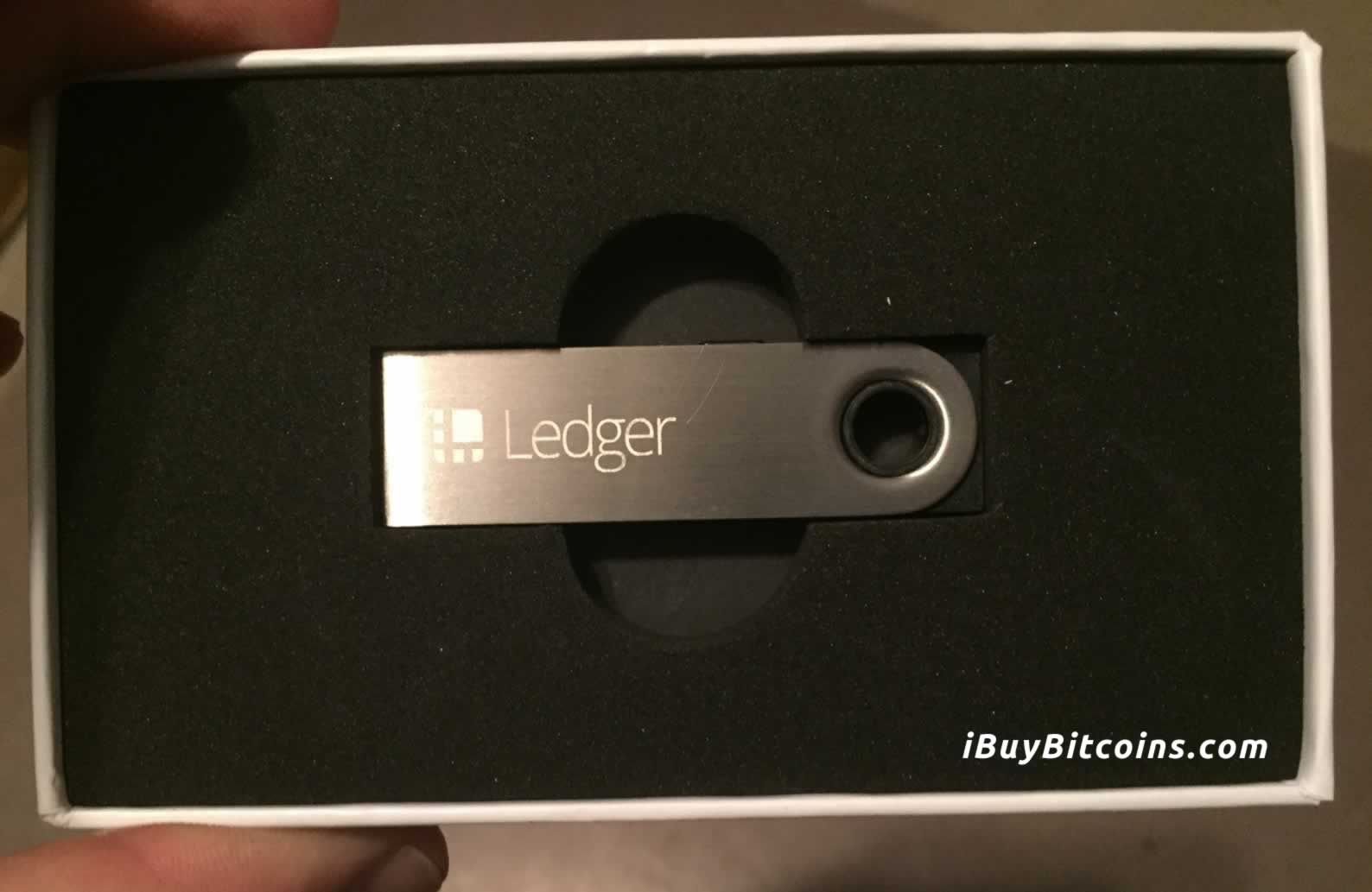 Ledger Nano S Bitcoin Wallet Inside the Box